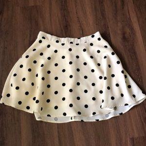 F21 Polka dot skirt